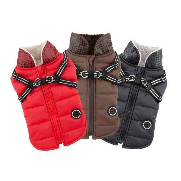 貝果貝果 美國 保暖鋪棉胸背外套 M  紅色、黑色、棕色   [D6420]