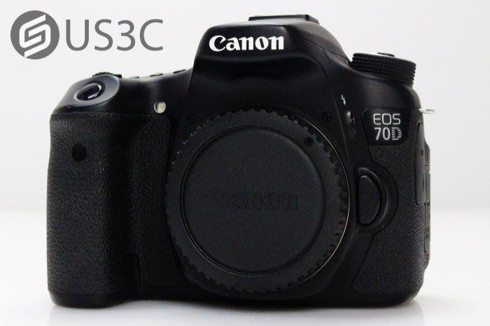 【US3C】台灣公司貨 Canon 70D Body 單機身 中階單眼 2020萬畫素 內建WiFi 快門7230次