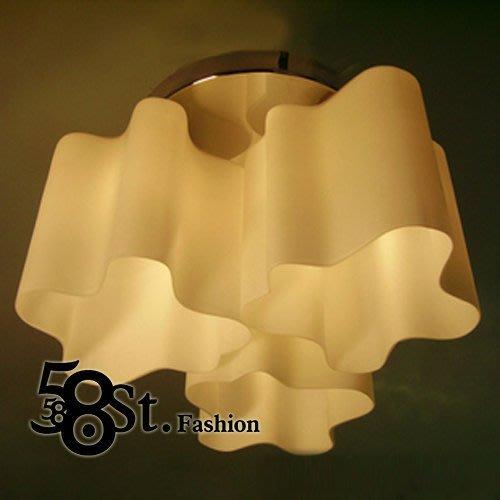 【58街】義大利設計師款式「促銷款,芬蘭湖泊雲彩吸頂燈」複刻版。GZ-108