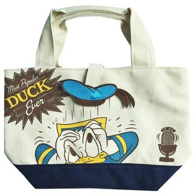 年終折扣活動~迪士尼Disney《現貨7折》唐老鴨 造型磁扣 托特包 帆布包 手提包~日本正品~心心小舖
