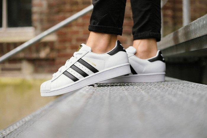 豬豬老闆 Adidas Original Superstar 經典 復古 白黑 金標 男女鞋 C77124 C77154
