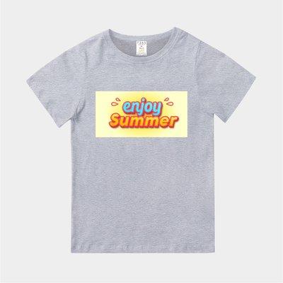 T365 MIT 親子裝 T恤 情侶裝 T-shirt 標語 話題 美式風格 slogan enjoy Summer
