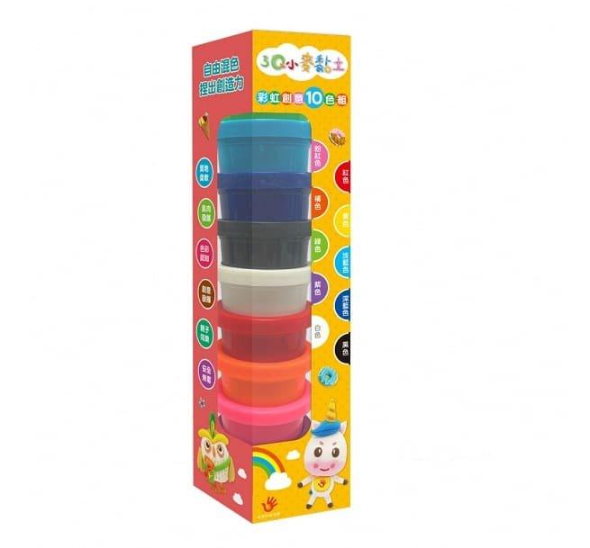 ☆天才老爸☆→【双美生活】3Q小麥黏土:彩虹創意10色組← 黏土 自由混色  創造力 色彩 團購 批發
