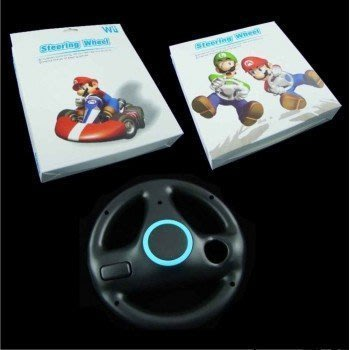 任天堂Nintendo Wii專用競速擬真輪狀副廠方向盤 黑色【台中恐龍電玩】