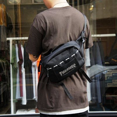 【 K.F.M 】THRASHER HOMETOWN TRAVEL WAIST BAG 腰包 嚴選布料 耐磨 防水