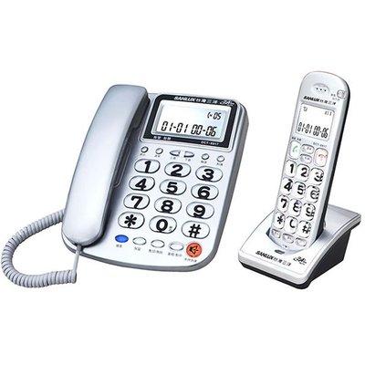 ✿國際電通✿免運 SANLUX 台灣三洋 DCT-8917 數位無線子母機 來電報號 內部對講 聽筒加大音量 (紅/銀)