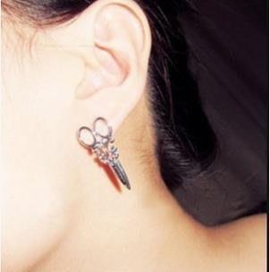 熱賣首飾品 小剪刀 個性耳釘 耳環