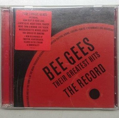 Bee Gees 比吉斯 2CD白金傳奇全紀錄 Their Greatest Hits: The Record 40首經典名曲 2001年 寶麗金發行 桃園市