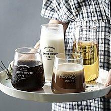 茶具 杯具 馬克杯 茶壺 玻璃杯燈工字母玻璃杯子茶杯燕麥早餐杯甜品杯思慕雪大肚杯子果汁飲料杯