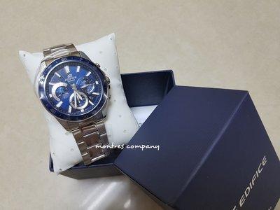 Montres Company香港註冊26年老店 卡西歐 CASIO Edifice 鋼帶 銀藍色 EFV-570D-2A 四款色有現貨