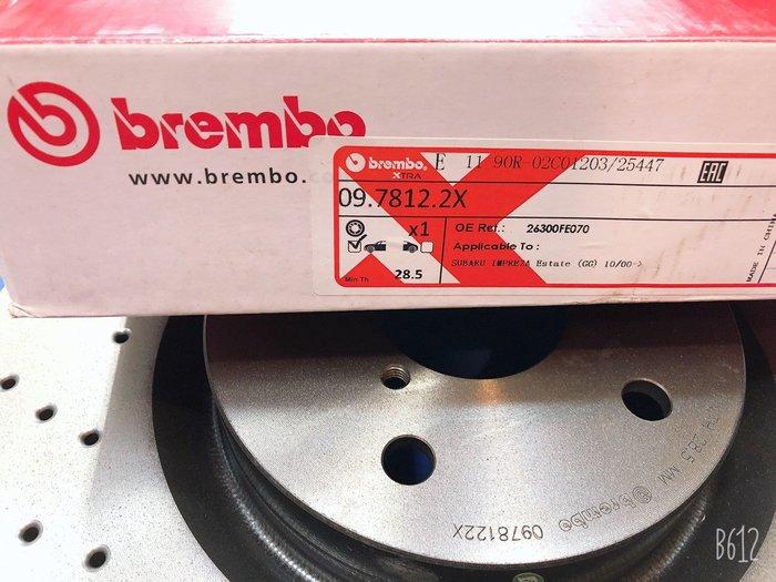 ☆光速改裝精品☆義大利 BREMBO SUBARU IMPREZA 2.5 326MM 打洞 5孔114MM -現貨在庫