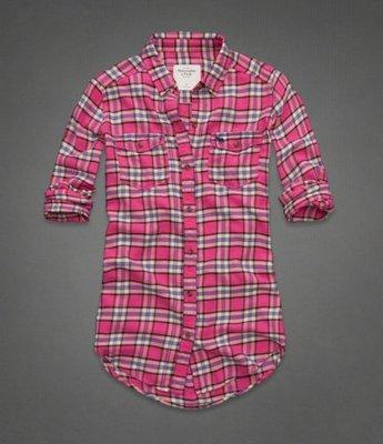 【美衣大鋪】c1  AF ☆ Abercrombie & Fitch 正品☆ Flannel 女格子襯衫