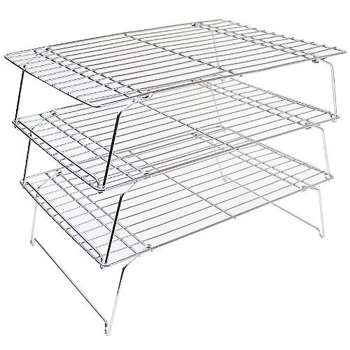 日本stackable compact cakecooler 可摺疊收納烘焙冷卻架/烘焙架/涼網/蛋糕架 3個一組