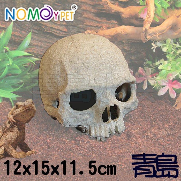 Y。。。青島水族。。。NS-73中國NOMO諾摩-逼真骷髏頭 爬蟲棲息躲避洞穴 蜘蛛蠍蛇蜥蜴==12*15*11.5cm
