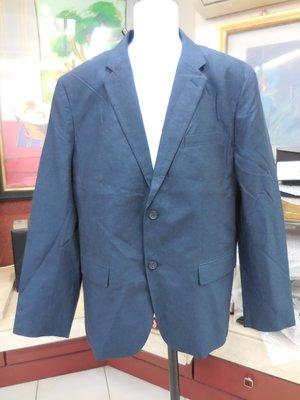 (二手近全新)美國Banana Republic香蕉共和國深藍色棉麻混紡休閒款西裝外套(46R)