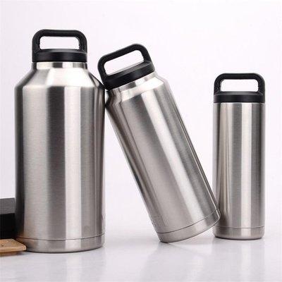 保溫瓶大容量不銹鋼保溫杯車載旅行水壺家用保溫壺1000ml冰粒桶 js724 【新生活】