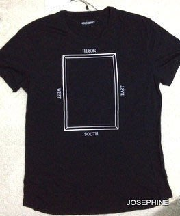 喬瑟芬【NIEL BARRETT】特價$4750含運~黑色 Crew-neck t-shirt T恤(M~L號)
