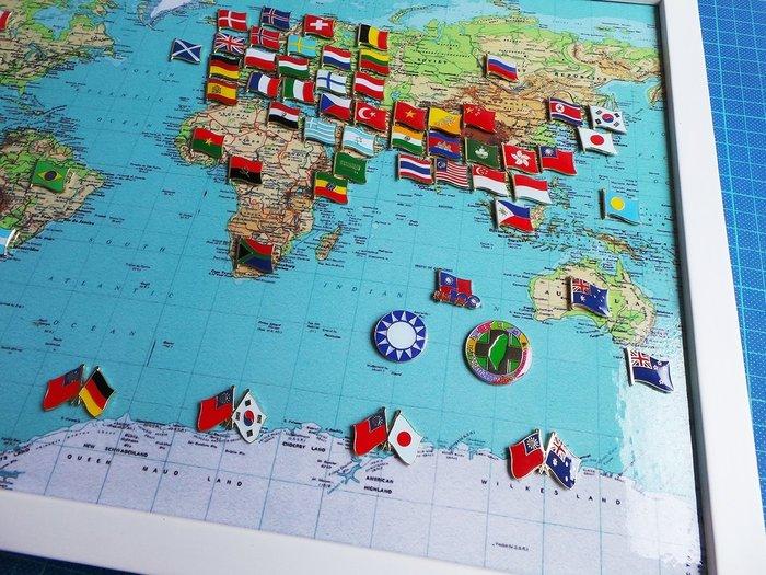 【國旗徽章達人】世界地圖國旗別針組合/徽章/胸針/胸章/勳章/獎章