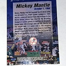[五星上將]FLEER NO.1 Mickey Mantle