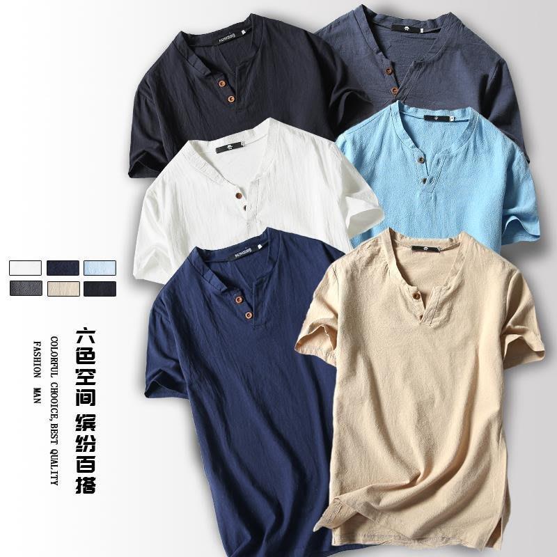 Mens short sleeved Tees Shirt man casual t shirts 男士T恤衫百衣百順TDR345