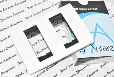 美國 COOPER Antares系列 30164 單聯雙開孔面板 蓋板 白色 (出清特價中)