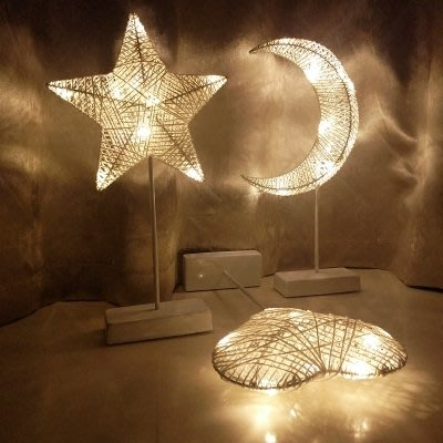 LED小彩燈臺燈ins少女心布置房間臥室網紅夜燈浪漫裝飾求 全館免運