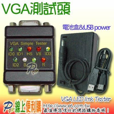 VGA HD-15 Cable 測試頭 UL2919 Cable Tester With USB power cable