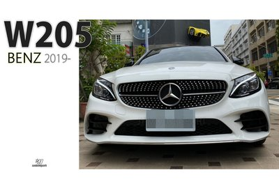 小傑車燈--全新 賓士 W205 C300 C250 2019 19年 改 C43 AMG樣式 大包 前保桿 素材