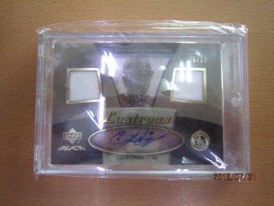 網拍讀賣~Coco Crisp~低限量壓克力雙球衣簽名卡/50~卡面簽~附磁鐵夾~普特卡~共1張~1000元~輕鬆付~