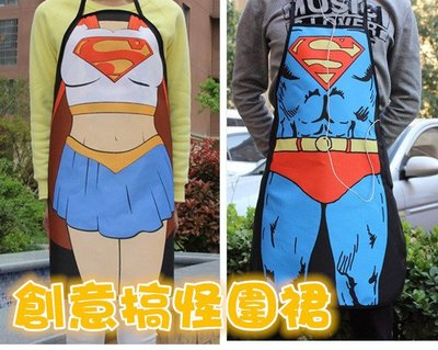 【超級英雄創意圍裙】搞怪變裝派對  廚房圍裙浩克/ 蝙蝠俠/ 美國隊長/ 閃電俠/ 鋼鐡人/ 蜘蛛人 交換禮物聖誕節