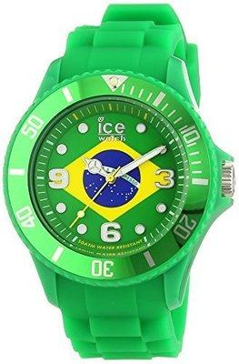[永達利鐘錶 ] ICE watch 深綠色巴西國旗膠帶日期錶 WO.BR.B.S.09 原廠公司保固24個月 42mm