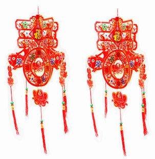 中國風春字紙掛飾材料包