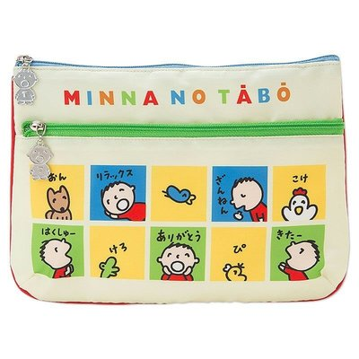 Sanrio 日本正版 TABO 大口仔 朋友系列 化妝包 收納袋