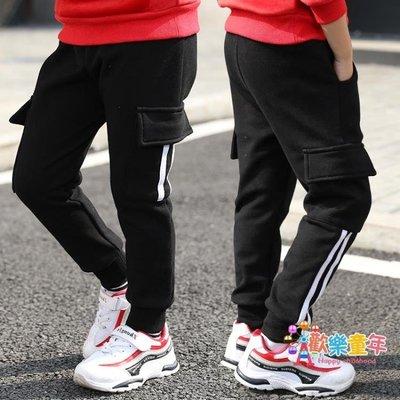 童裝男童褲子冬裝新款兒童運動休閒褲韓版秋冬季刷毛加厚長褲