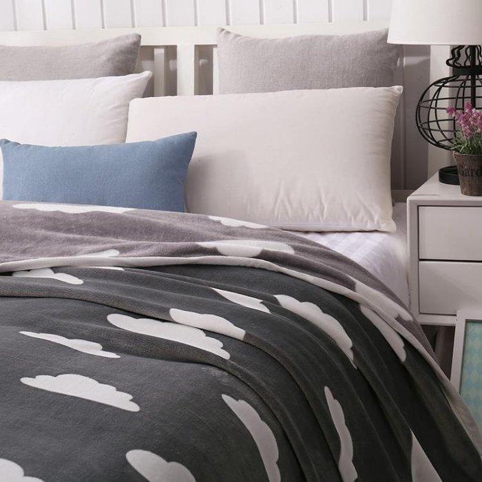 夏季空調毯云貂絨毯子法蘭絨毛毯床單夏天單人雙人夏涼蓋毯薄被子Y-優思思