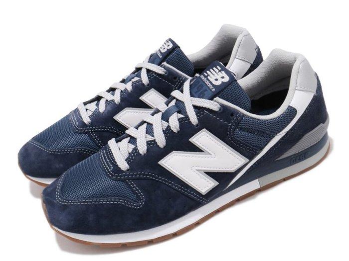 NEW BALANCE 996 復古休閒鞋 牛奶糖膠底 深藍白 男生尺寸 # CM996SMN
