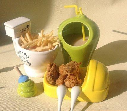 【奇滿來】馬桶杯子 創意坐便器 搞怪 惡搞便所造型餐具組 冰品組合餐具 馬桶 便所套裝餐具  ADCN