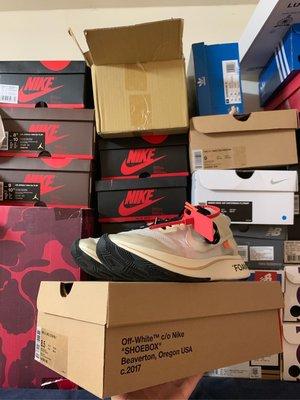 日本公司貨Nike zoom fly off white the ten 初代