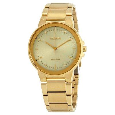 【換日線】男錶 Citizen Eco-Drive Axiom Champagne Dial Men's Watch BJ6512-56P