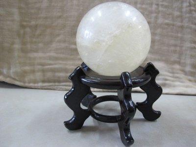 二手舖 NO.3072 天然黃水晶球 招財 有球必應 風水飾品擺件