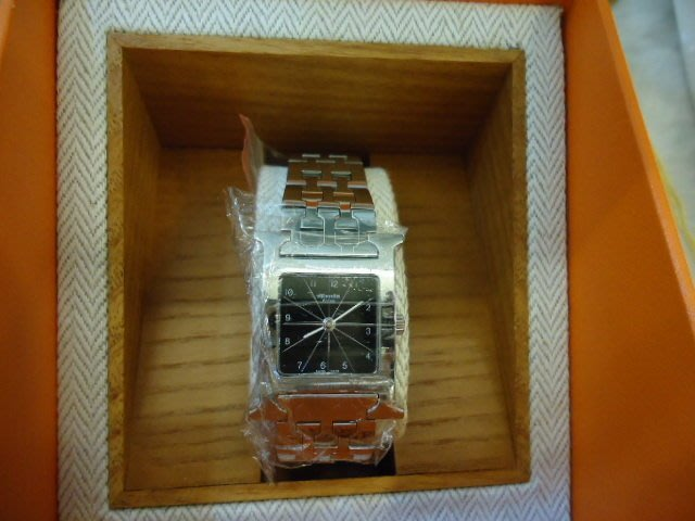 布蘭斯名牌館**專櫃真品 HERMES  手錶 實品拍攝盒裝