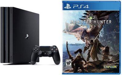 永和 PS4 PRO 主機+ 魔物獵人 世界中文版 含特典DLC 攜碼 遠傳1399 帳單免預繳 門號價1元 公司貨