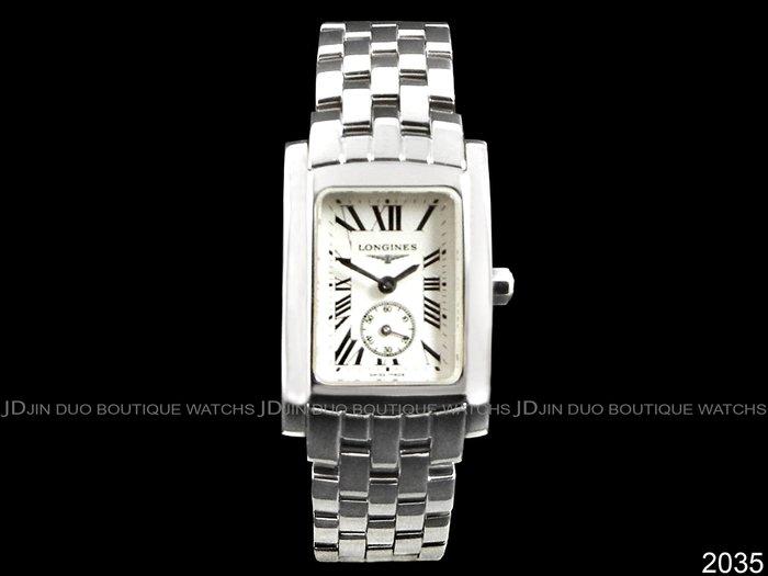 金鐸精品~2035 LONGINES 浪琴 DolceVita 黛綽維納多情系列小秒圈 石英女用腕錶