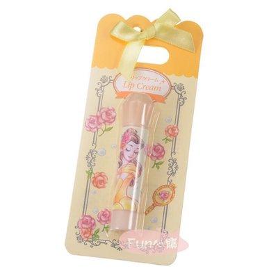日本迪士尼 美女與野獸 貝兒 玫瑰香味 護唇膏 16g。現貨【Fun心購】