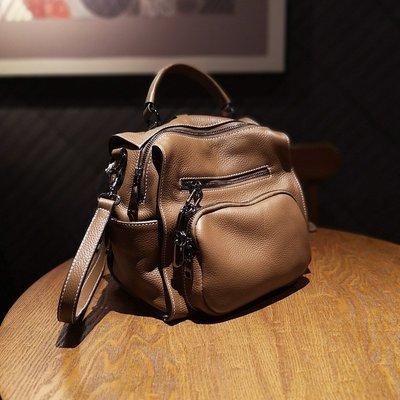 現貨 牛皮後背包 DANDT 多隔層單肩斜跨手提包 ( 20 AUG) 同風格請在賣場搜尋 THU 或 歐美包款