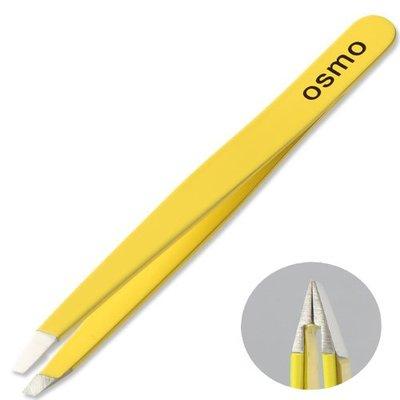 【Osmo 我思美 】義大利斜口眉夾 明亮黃 ITALY  (修眉毛/修眉工具)