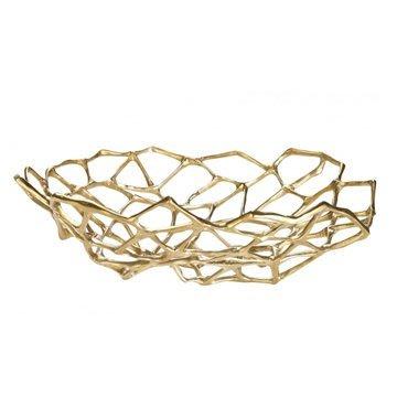 Luxury Life【預購】英國 Tom Dixon Bone Bowl Brass 39cm 金縷系列 黃銅 置物皿