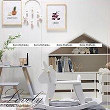 Sisterxoxo 歐美 韓國 北歐兒童房 訂製款純白木製獨角獸木馬 搖搖椅 嬰兒房 兒童房 幼稚園 家飾品 玩具