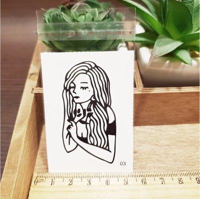 【萌古屋】百態人生03單圖 - 男女防水紋身貼紙刺青貼紙 K43