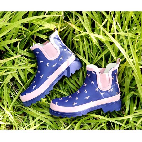 5Cgo【鴿樓】會員有優惠  22298852861 英倫馬兒橡膠短筒女式雨鞋女士雨靴花園鞋女早春款防滑雨靴